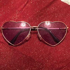 Cute purple heart sunglasses.